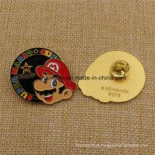 Custom Super Mario Enamel Badge com borboleta Cluch