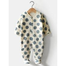 Winter Organic Cotton Romper com DOT Design Atacado na China