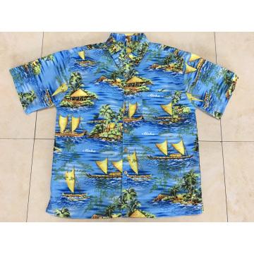 Camisa de praia havaiana masculina