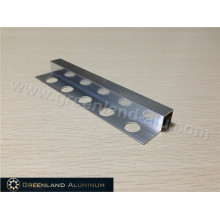 Bright Silver Aluminum Square Schluter Strip12mm Height