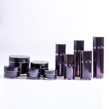 Hot Sale Black Garrafas duplas garrafa de bomba Airless recarregável com coleção de jarros