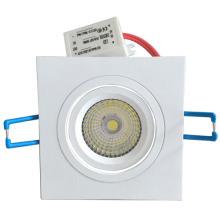 Rétrofit LED downlight carré, plafonnier rectangulaire encastré