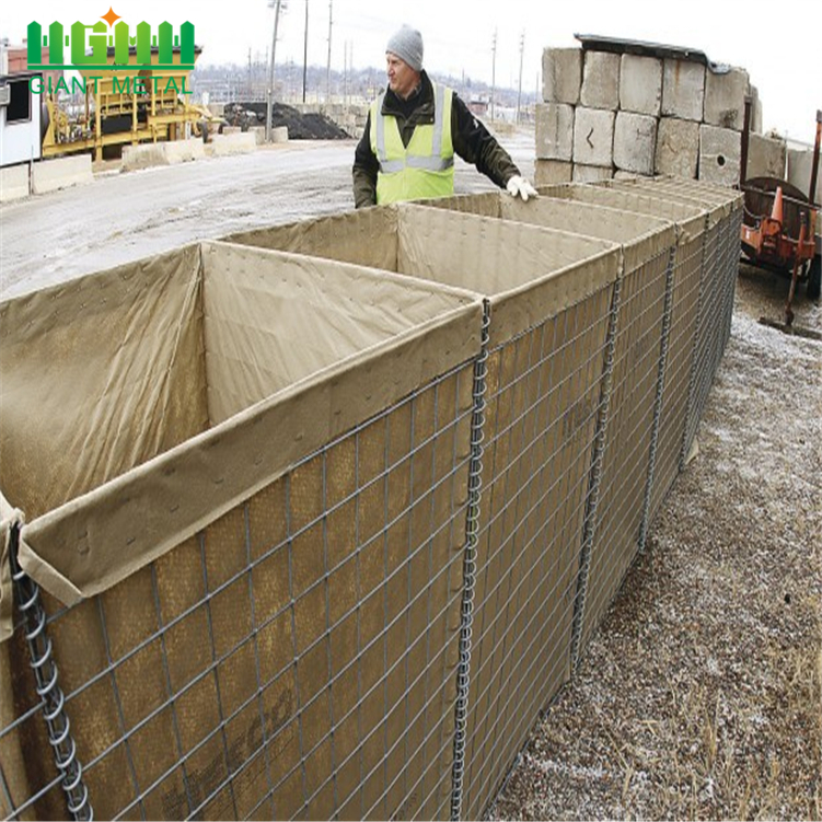Hesco Barrier Bastion Welded Gabion Box Explosion
