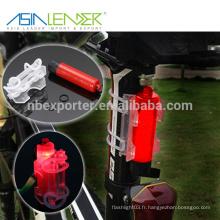 Asia Leader Facile à installer sans outils s'adapte à toute bicyclette 1 * AAA Battery Power Supply 3 Modes d'éclairage Bike Safety Light