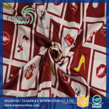 Tissu à linge féminin Tissu d'impression numérique Tissu 100% polyester