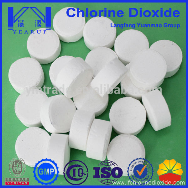 High Quality Water Purifying Chemicals Stable Chlorine Dioxide Tablets With Preferential Price