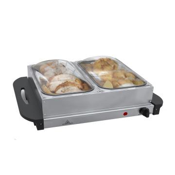 Réchauffeur de buffet avec deux plateaux 2,5L