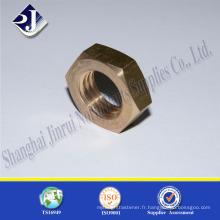 Chine Fournisseur Ecrou hexagonal en acier au carbone à haute résistance en zinc