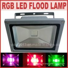 Impermeável ao ar livre controle remoto RGB LED 50W luz de inundação LED