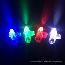 luz conduzida do dedo dos feixes do dedo do laser da luz do dedo
