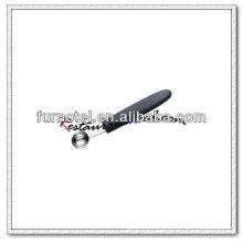 U115 em aço inoxidável redonda com cabeça única com melão Baller com alça de plástico