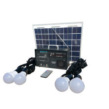 10w Solar Electricity Lighting Generating System Kit