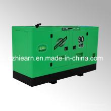 Conjunto de generador diesel refrigerado por agua Silent Canopy (GF2-90kVA)