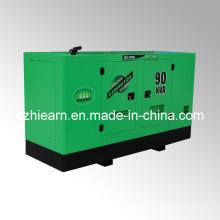 Dossel silencioso diesel refrigerado a água do grupo de gerador (GF2-90kVA)