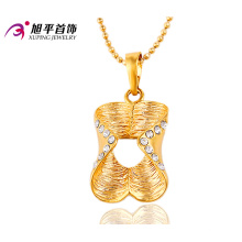 32387 xuping venda quente belas senhoras moda jóias 18 k banhado a ouro de strass pingente de pedra para as mulheres