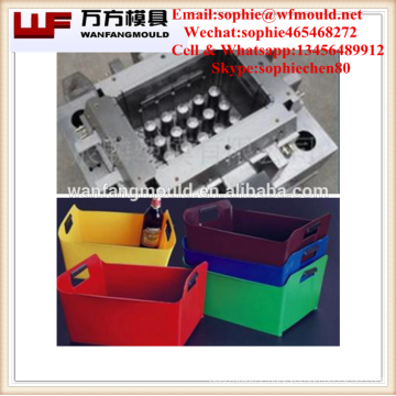 injection molding companies manufacturing beer bottle storage crate mould/OEM Custom beer bottle storage crate mold