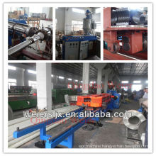 HDPE,PVC corrugated pipe machine