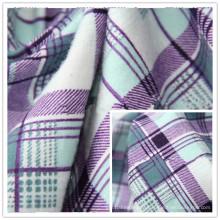 O algodão 100% imprimiu a tela tingida fio da flanela do algodão para a venda por atacado do vestuário
