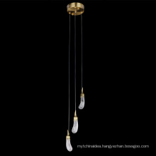 Modern stairs led crystal large chandeliers pendant lights for indoor decor