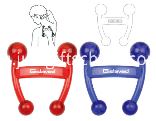 Personalized Logo Colored Back Massagers W Four Points (2)