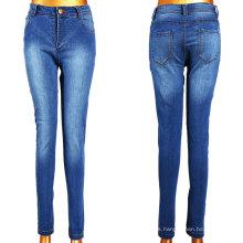 2016 Hot venden blanco azul lavado chica jeans