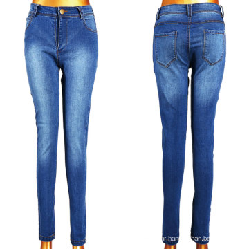 2016 Hot Sell White Blue Washed Girl Jeans