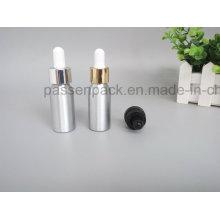 Garrafa de conta-gotas de alumínio para embalagem de óleo de oliva cosmético (PPC-ADB-013)