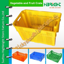 high quality HDPE plastic large crate for keeping vegetables and fruits fresh