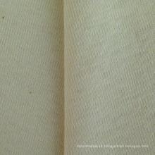 Hemp / Algodão fio duplo Rib tecido de malha (QF14-1460)