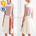 Sin mangas con volantes multi color plisado Mini Summer Daily Dress fabricación venta al por mayor de moda mujeres ropa (TA0027D)