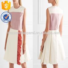 Sans manches à volants multi couleur plissée mini robe quotidienne d'été de fabrication en gros de mode femmes vêtements (TA0027D)