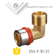EM-F-B135 Different diameter male Thread Elbow machine press fitting