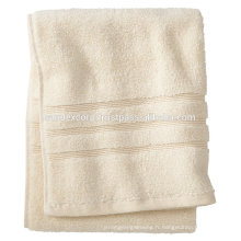 Serviettes de bain marron