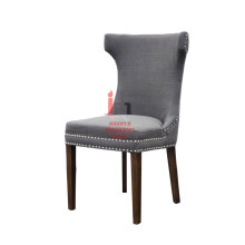 Grey Curved Head Dining Chair