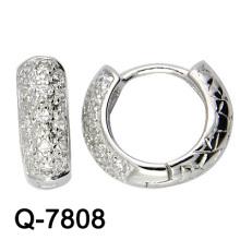 Новые серьги стерлингового серебра прибытия 925 с CZ (Q-7808)