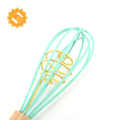 High quality durable and functional bakeware non-stick cookware family wooden handle silicone whisk