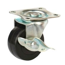 Rubber Light Duty Castors, Side Brake