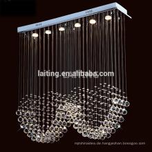 Modernes Design Rechteckige Regentropfen Fabrik Großhandel Kleine Kristall Kronleuchter Lampe