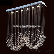 Diseño moderno Rectangular Rain Drop Factory Wholesale Small Crystal Lámpara de la lámpara