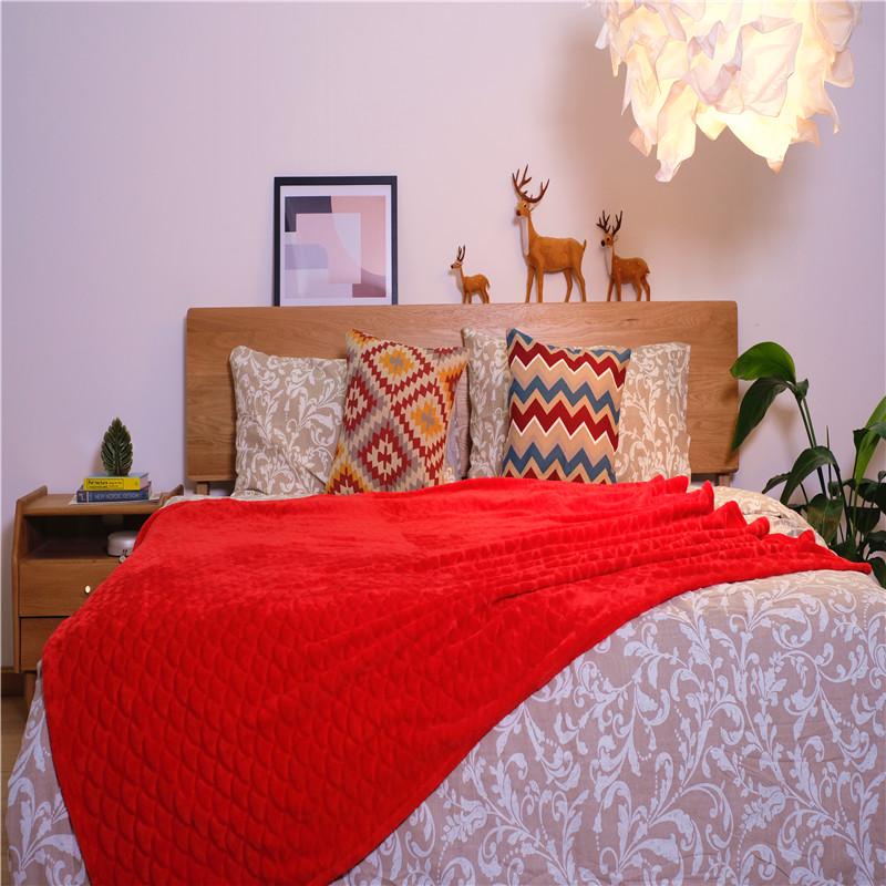 Custom Plain Jacquard Blankets