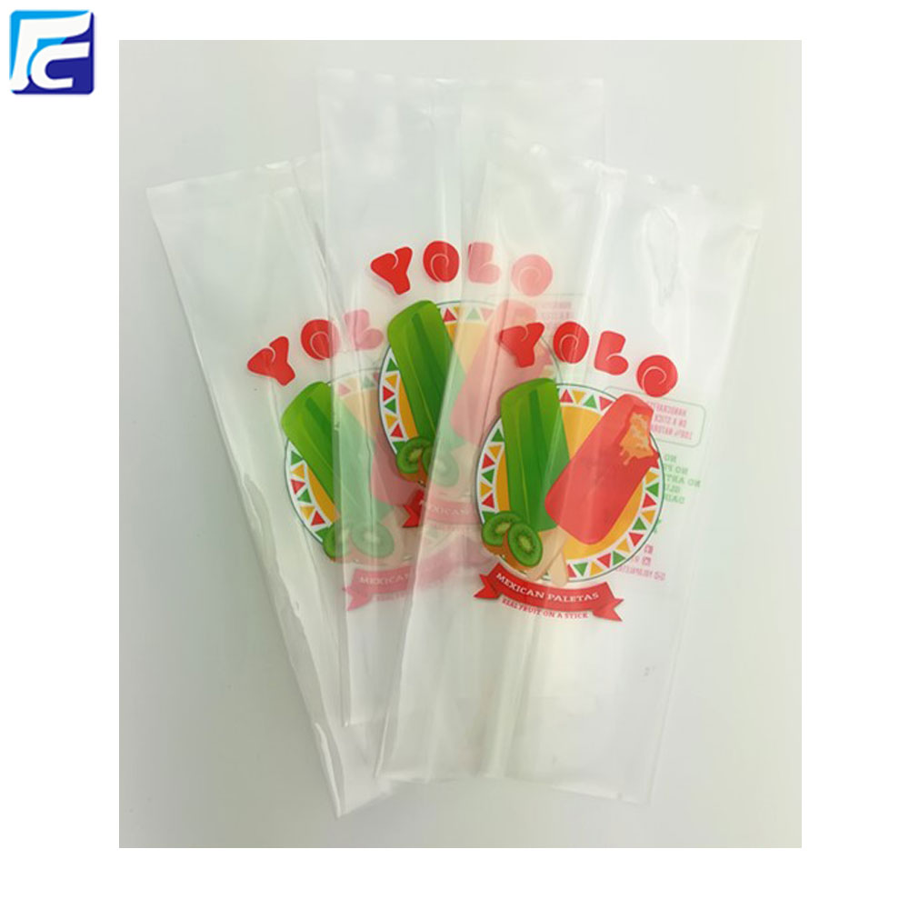 Clear plastic popsicle bag