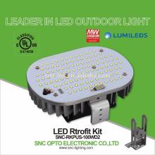 UL notierte 100W LED Shoebox Licht-Nachrüstsätze mit 5 Jahren Garantie