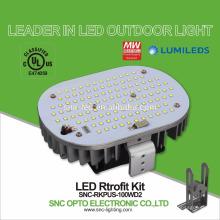 Juegos de reacondicionamiento de luz LED Shoebox LED de 100W con 5 años de garantía