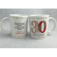 Tasse imprimée décalée, tasse promotionnelle 11 oz