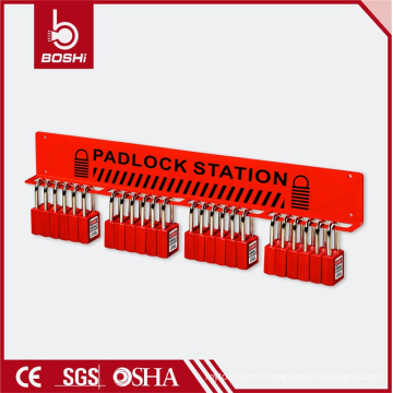 20 Padlocks Red Steel Station
