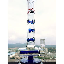 9 Encoches de glace Inline Glass Water Pipe