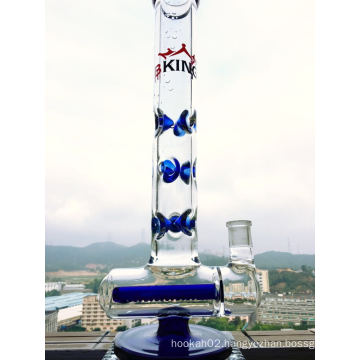 9 Ice Notches Inline Glass Water Pipe