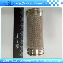 Cilindro de filtro de purificador de óleo de aço inoxidável