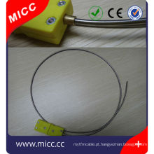 barato Tubo flexível de Inconel com tipo sensor do plugue k termopar