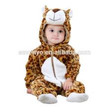 Soft baby Romper Animal Onesie Costume Cartoon Outfit Homewear sleep wear,flannel,mini leopard-baby,cute hooded towel